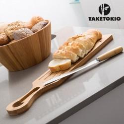 Tabla y Cuchillo Cortar Pan de Bambú