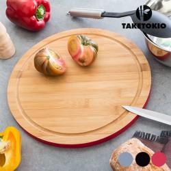 Tabla Cocina Redonda Bambú
