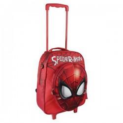 Mochila Escolar 3D con Ruedas Spiderman