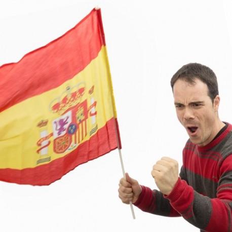 Bandera de España con Asta