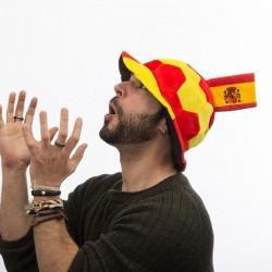 Gorro Balón de Fútbol con Bandera de España