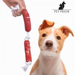 Cuerda con Salchichas para Perros